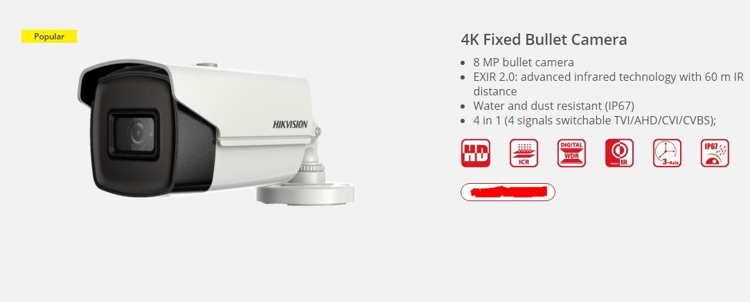 4k camera hikvision